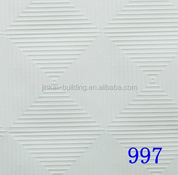 Gypsum Ceiling / PVC Plaster Ceiling Board / Vinyl Faced Gypsum Ceiling Tiles
