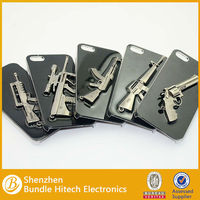 Cool Metal Gun Case for Iphone 5,Gun Shell Case for Iphone 5
