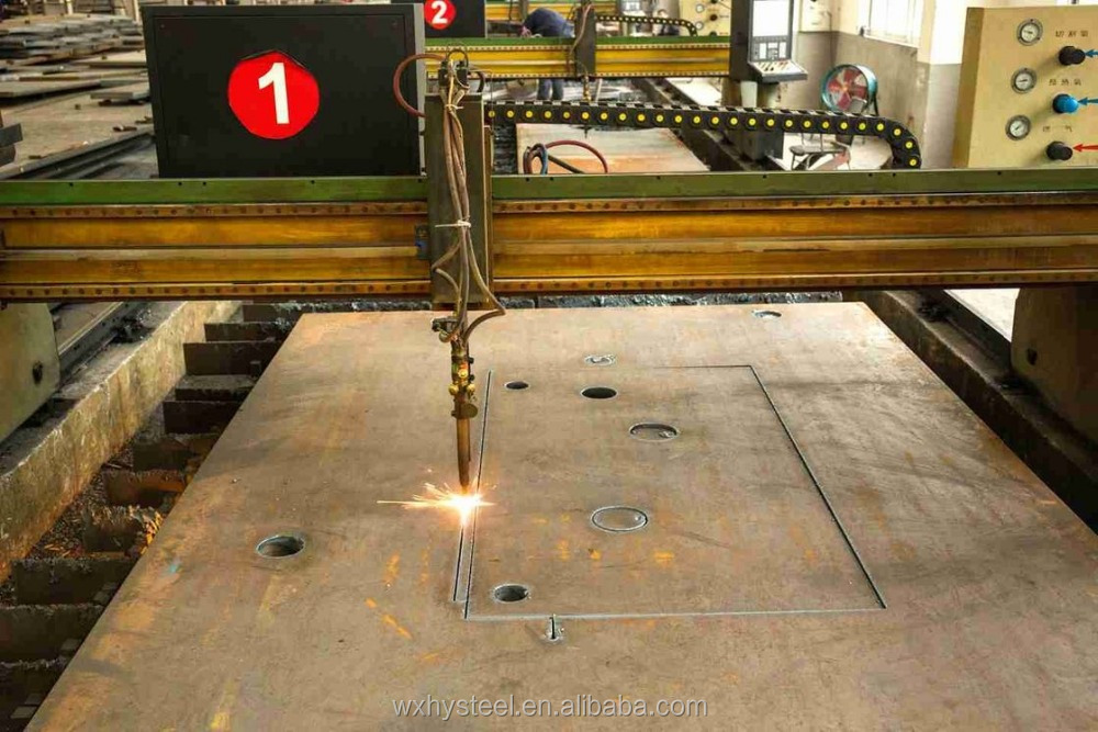 Embedded Punching Laser Cutting Steel Plate For Building Material SGS Approval