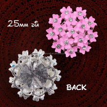 wholesale 3D metal vintage flower scrapbook embellishment