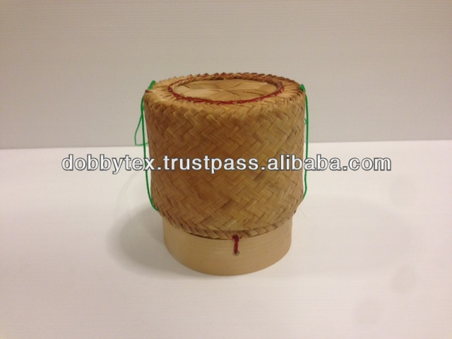 Handmade Bamboo container for holding cooked glutinous rice / Sticky rice