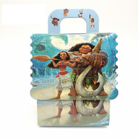 Moana Theme paper bag Candy Box Gift Boxes Boy/Girl Kids baby shower Birthday Party Decoration Party Supplies