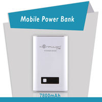 konfulon Portable Dual USB 7800mah External Battery Power Bank /Adapter for GALAXY S4 / i9500 + More