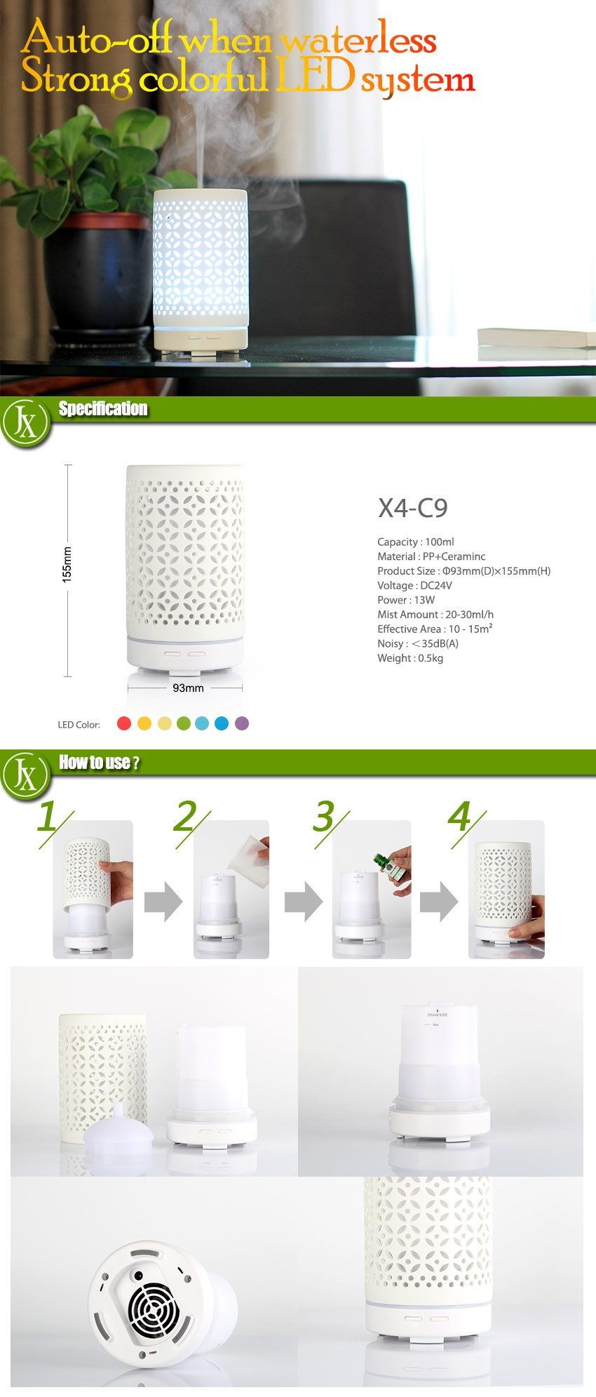 Hot Sale Ceramic Electric Essential Oil Diffuser New Design Freshener Dispenser