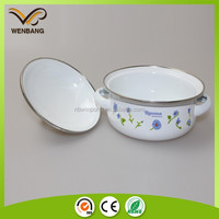 Enamel coated cookware porcelain enamel cookware set with printing german enamel cookware