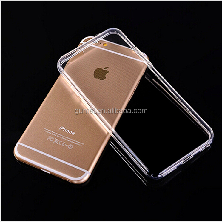 2015 New Arrival! Ultra Thin Transparent Clear soft TPU Phone Back Cover Case 0.7mm For iPhone 6