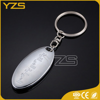 high quality custom die casting oval keychain