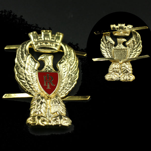 Custom gold eagle ,hard enamel ,fitting as photos