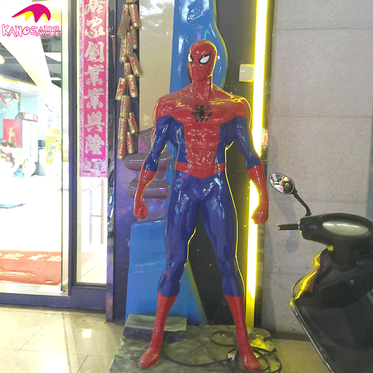 KANO2226 Amusement Park Attractive Resin Spiderman Statue