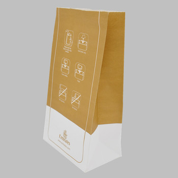 Jinan Arjie Rectangular Bottom Vomit Paper Bag with Clip
