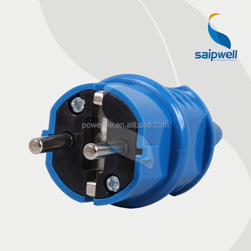 Saip /Saipwell Hot Sale IP44 230V 16A 2 Pin French Type industrial socket and plug ip67