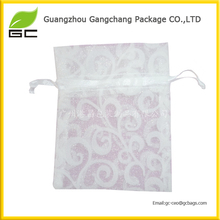 2017 Good Bags Custom Print Logo Organza Jewelry Drawstring Bag Wholesale With Logo For Packing Gift For Sugar