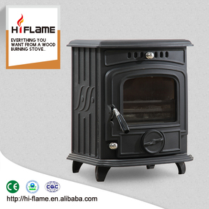 Hiflame Hot Sale modern design wood burning stoves / home using antique cast iron wood burning stoves HF217