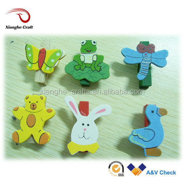animal shaped clothes peg wooden craft peg for handicraft
