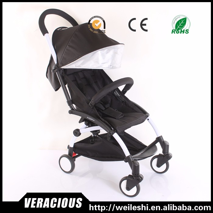 Hot selling fold baby pram en1888 leather baby stroller 3 in 1 made in China