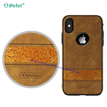 Mobile phone accessories leather phone case for iphone X