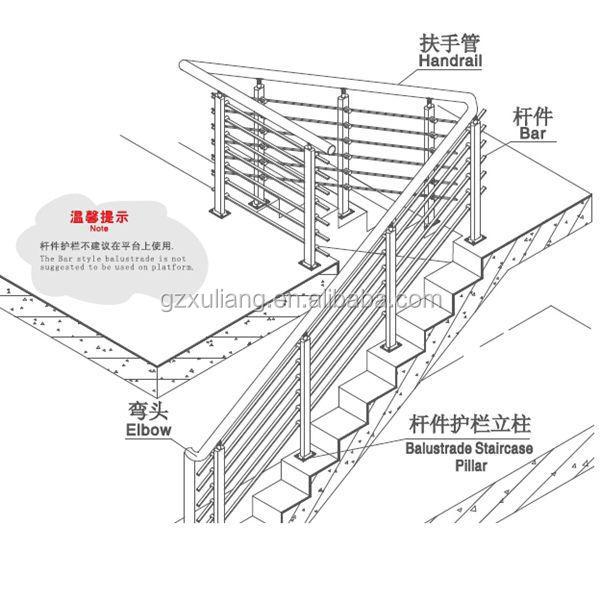 stainless steel balustrade stair railing handrail buy. Black Bedroom Furniture Sets. Home Design Ideas
