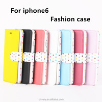 new products mobile phone cover for iphone 6 apple smart phone holster fashion Wave point for iphone 6 case wallet flip stand