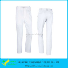 Plain White High Quality Custom Embroidery Logo Golf Trousers