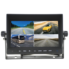 7 Inch Quad Screen Car DVR Monitor With 4 Channel and SD Card Slot Support Recording Function For Big Vehicles