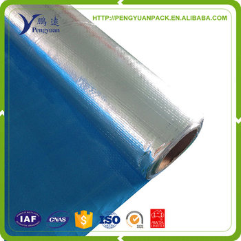 Hot Sell heat resistant fireproof Alu foil laminated with PE weave