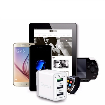 Shenzhen universal three ports quick charge 3.0 usb wall charger for IOS and android