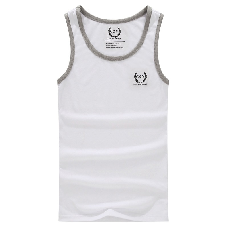 Bodybuilding New Direct Selling Solid Broadcloth No Cotton O-neck Gym 2015 Men's Fashion Tank Tops, Male Causal Summe