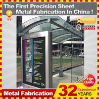 high quality metal shelters for bus stop