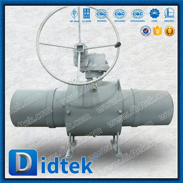 Didtek <strong>Trade</strong> Assurance API6D DN350*300 Body Welded Long Cycle Life Gas Ball Valve With Full Welded
