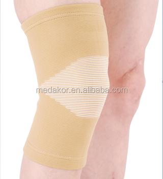 beige 4-way stretch elastic knee support