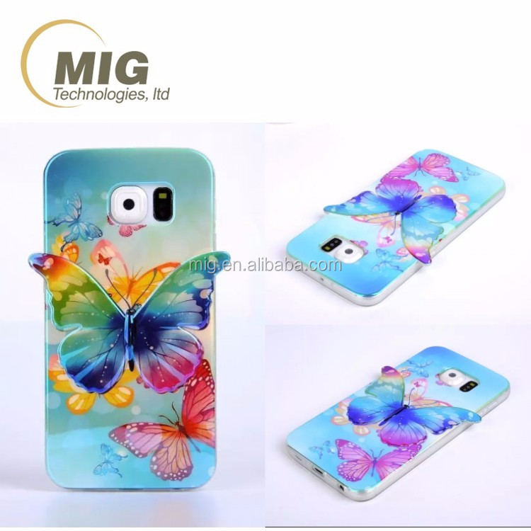 for huawei p8 Colorful 3D Blu ray Butterfly tpu phone case For samsung note 5 4 3 2 s3 s4 s5 s6 edge for iPhone...