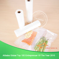Embossed vacuum bag