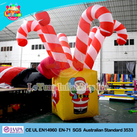 Popular Christmas Inflatable Candy Cane / Christmas Advertising Inflatables for sale