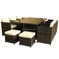 Wicker dining set outdoor furniture