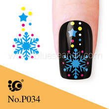 wholesale fingernails christmas neon snowflake gifts tattoo artist