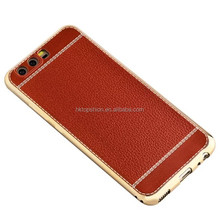 Hot New Case For Huawei P9 P9 Lite P10 P10 Plus Litchi Leather Grain TPU Back Cover Case
