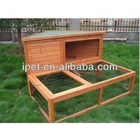 Strong Wooden rabbit house with extra run RH021