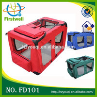 Portable Dog Cat Carrier Travel Cage Kennel Folding Soft Crate