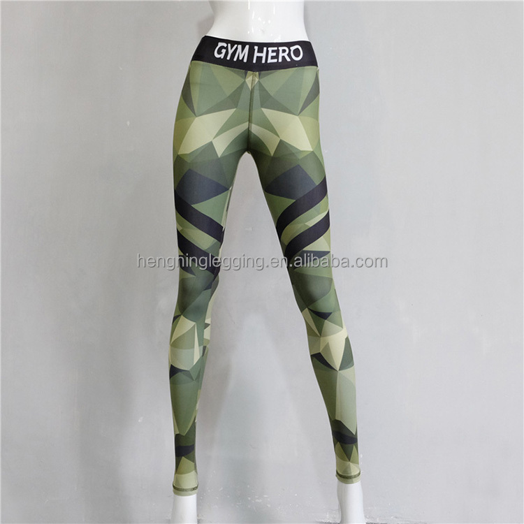 2017 Spring autumn seamless woman camouflage printing children stretch leggings