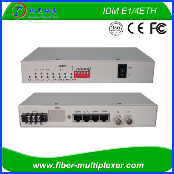 E1 to Ethernet protocol converter with 4 Ethernet ports