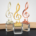 crystal trophies and Glass Trophy for music competition