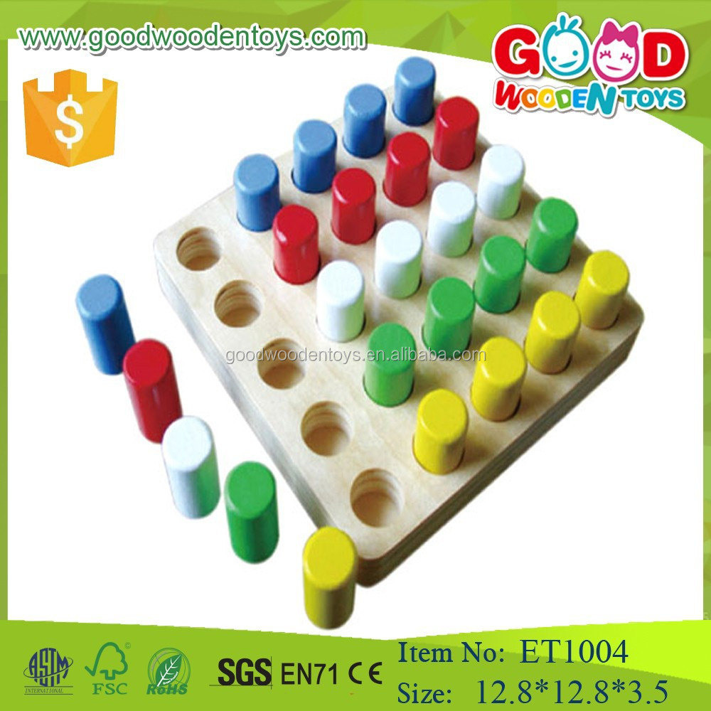2015 educational funny wooden peg board game for child