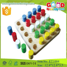 2017 Educational Funny Wooden Peg Board Game For Child