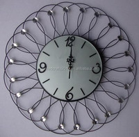Popular selling decorative acrylic metal wall clock for office decor