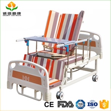 Automatic adjustable electric leg position and change double mattress cover nursing home care medical bed approved