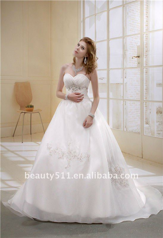 2017 Ball Gown V-neck Cathedral Train Lace Appliqued Wholesale Long Trailing Bridal Wedding Gowns AS006