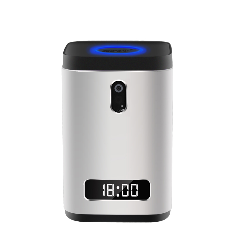 Windows 10 battery powered mini pc Intel cheery trail x5-Z8300 Quad Core 2/4GB 32/64GB Bluetooth 4.0 Led screen clock and camera