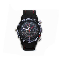 Waterproof Watch DVR Built-in 8GB watch Hidden mini video recorder 720*480P 30fps Sports wrist watch