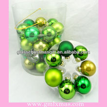 2016 hot sale popular barrelled Christmas Ball Ornaments with Aluminum Cap