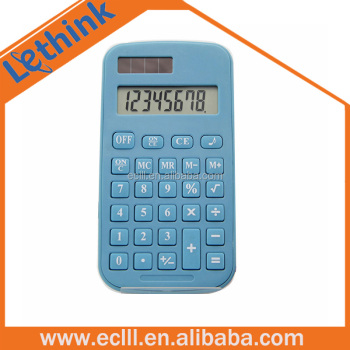 Plastic dual power small size calculator for promotion